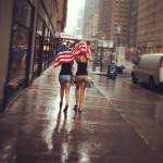 Rain in the New York City